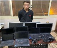 القبض على المتهم بسرقة محتويات شركة بالنزهة