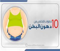 إنفوجراف | 10 خطوات للتخلص من دهون البطن