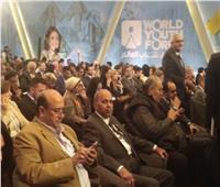 رئيس جامعة المنيا يشهد جلسة التميز الحكومي بمنتدى شباب العالم