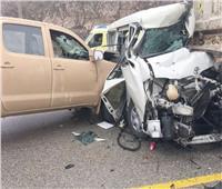 إصابة 12 شخصا في تصادم سيارتين نقل بطريق التفريعة ببورسعيد
