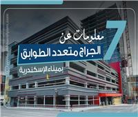 إنفوجراف| 7 معلومات عن «الجراج متعدد الطوابق» بميناء الإسكندرية
