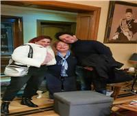 صورة صادمة.. سمية الألفي في أحدث ظهور مع أحمد الفيشاوي وزوجته