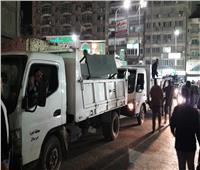 صور| حملة مكبرة بشارع العشرين بفيصل في الجيزة