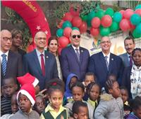 المنظمة الأفريقية لتنشيط السياحة تحتفل بالكريسماس مع 500 لاجئ