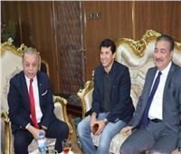 وزير الشباب والرياضة يلتقي نواب المنوفية قبل جولته التفقدية