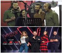 فيديو| كواليس أغنية «حب الأيام» قبل تقديمها بحفل ختام «The Voice»