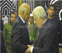 صور| «عبد العال» وعدد من النواب في عزاء شقيقة رئيس الزمالك