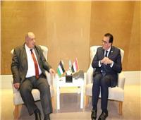 وزير التعليم العالي يبحث أوجه التعاون المشترك مع نظيره الفلسطيني