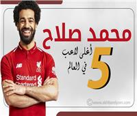 انفوجراف  محمد صلاح خامس أعلى لاعب في العالم