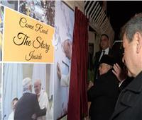 الرئيس الفلسطيني يفتتح أكبر مجسم مسيحي في العالم «مصنوع من خشب الزيتون»