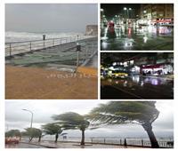 «تعطيل الدراسة وغرق كورنيش وطوارئ».. الأمطار تضرب 4 محافظات