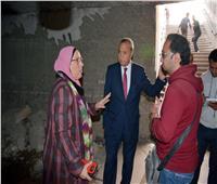 الهجان يتفقد أعمال تطوير 3 أنفاق للمشاة بحي غرب شبرا الخيمة