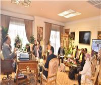محافظ أسيوط يناقش موقف «حياة كريمة» مع وفد برنامج التنمية المحلية للصعيد