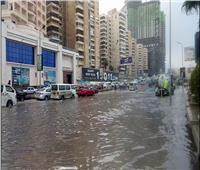 إرتباك في الحركة المرورية بالإسكندرية بسبب الأمطار الغزيرة