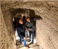 صور| الأعمال النهائية لمشروع ترميم الهرم المدرج بمنطقة سقارة الأثرية