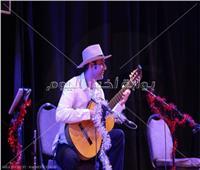 صور  محمد أباظة يقدم حفل موسيقي في ساقية الصاوى
