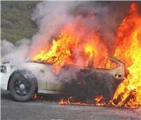 اشتعال النيران في سيارة محاسب بقنا
