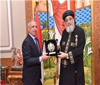 البابا تواضروس يستقبل رئيس الأكاديمية العربية للعلوم والتكنولوچيا