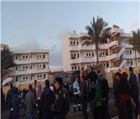 صور| 22 قتيلا و7 مصابين في تصادم 3 سيارات ببورسعيد