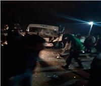 إصابة 5 من مشجعي النادي المصري في انقلاب أتوبيس غرب بورسعيد