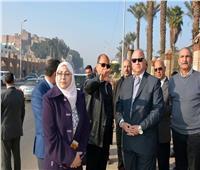 محافظ القاهرة يتفقد أعمال تطوير طريق مسار نقل «المومياء الملكية»