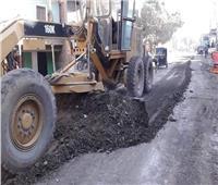 استمرار أعمال صيانة وترميم ميادين حي شرق أسيوط
