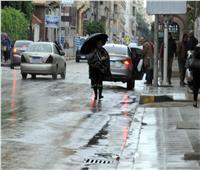 صور  أمطار غزيرة على سواحل الإسكندرية بالتزامن مع نوة عيد الميلاد