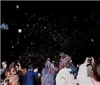 صور  اليابانيون في طوكيو يحتفلون بحلول سنة 2020