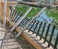 أعمال سرقة للأسوار الحديدية بشوارع الإسماعيلية.. ومواطنون: يجب تفعيل منظومة الكاميرات