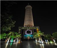 برج القاهرة يطلق الألعاب النارية ويتزين بـ«الليزر» احتفالا بالعام الجديد