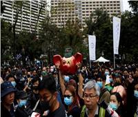 عشرات الآلاف يشاركون في احتجاجات أول أيام العام الجديد في هونج كونج