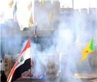 القوات الأمريكية تطلق الغاز المسيل للدموع على المحتجين أمام سفارة واشنطن ببغداد