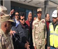 صور  وزير الرياضة يتفقد الصالة المغطاة ومبنى الوزارة بالعاصمة الإدارية الجديدة
