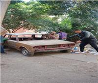 حملة لرفع السيارات المهملة بالسيدة زينب