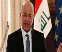 أول تعليق من الرئيس العراقي بعد اغتيال سليماني