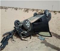 إصابة 5 أجانب ومصري في انقلاب ملاكي بطريق الجلالة الزعفرانة
