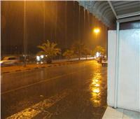 سقوط أمطار غزيرة على القاهرة والقليوبية