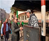 محافظ أسيوط يتفقد أعمال التطوير والتجميل بميدان المحطة