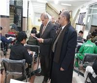 صور  رئيس جامعة الأزهر يتفقد لجان امتحانات كليات قطاع الدراسة