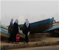 صور| عواصف ترابية تجتاح الإسكندرية.. وانتظام حركة الملاحة البحرية