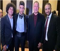 صور| نجوم الأهلي يحضرون زفاف أحمد الشيخ
