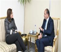 """وزيرة التخطيط تلتقي برئيس شركة """"ذارو"""" العالمية لبحث فرص الاستثمار"""