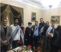 طلاب جامعة المنصورة يشاركون في الاحتفال بعيد الميلاد المجيد