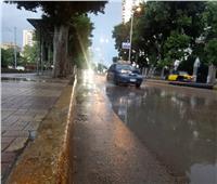 بالصور| أمطار رعدية بالإسكندرية.. و95 سيارة لشفط المياه من الشوارع