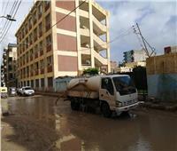أمطار غزيرة ورياح شديدة بكفر الشيخ