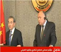 بث مباشر| مؤتمر صحفي لسامح شكري ونظيره الصيني بالقاهرة