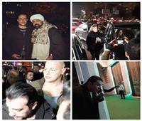 فيديو  نهال عنبر ومصطفى كامل ومتقال أول الحضور في جنازة والد إيهاب توفيق