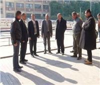 غرباوي يتفقد أعمال تجديد مسرح جامعة جنوب الوادي المكشوف