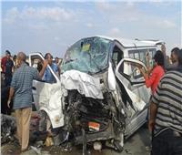 إصابة 8 أشخاص في انقلاب سيارة ميكروباص بالطريق الزراعي بالبحيرة