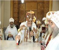 البابا تواضروس يدشن 3 مذابحكنيسة مارجرجس بسوهاج